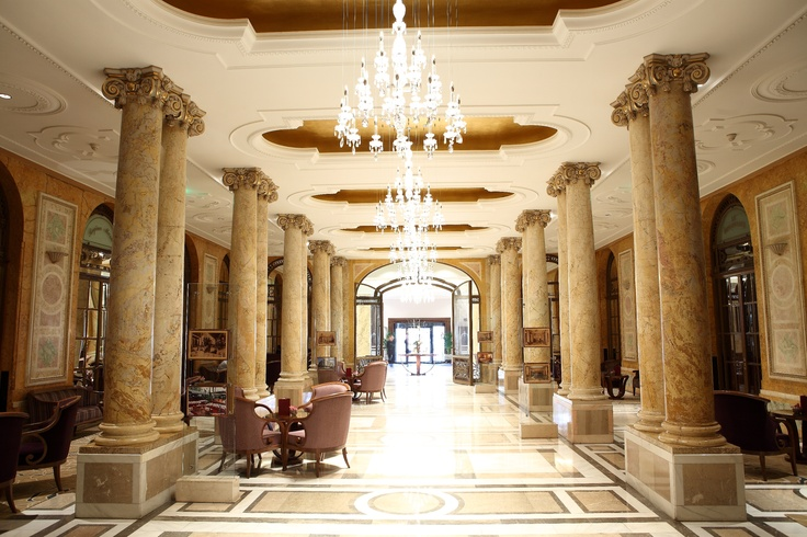 Collonade Reception Area at the Athenee Palace Hilton Bucharest