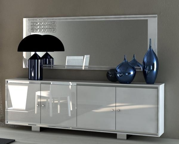 Caprice, Contemporary 4-Door Sideboard in White High Gloss ...