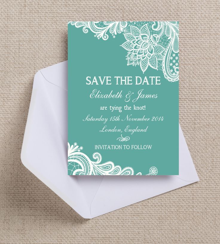 design printable invitation cards online free%0A Gorgeous lace design Save the Date  instant printable  cards or magnets   Customise online