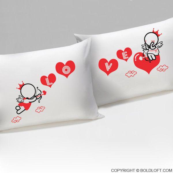 Love Goes Toward Love™ His & Hers Couple Pillowcase Set