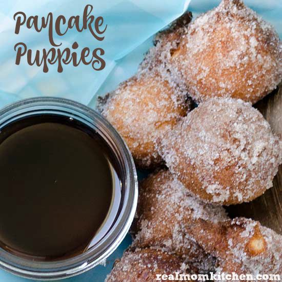 Pancake Puppies | realmomkitchen.com