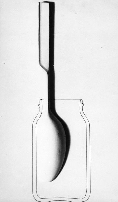 Achille Castiglioni decided he could invent a spoon that would get you that last scoop of mayonaise that always gets caught up in the rim. He did it!