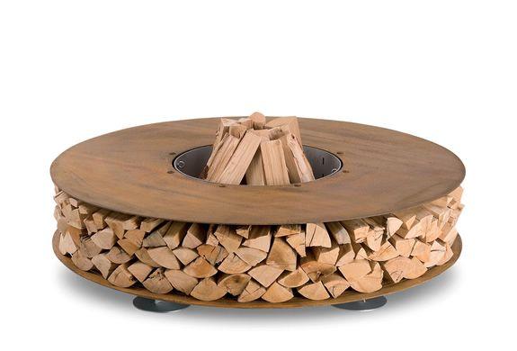 zero outdoor fireplace