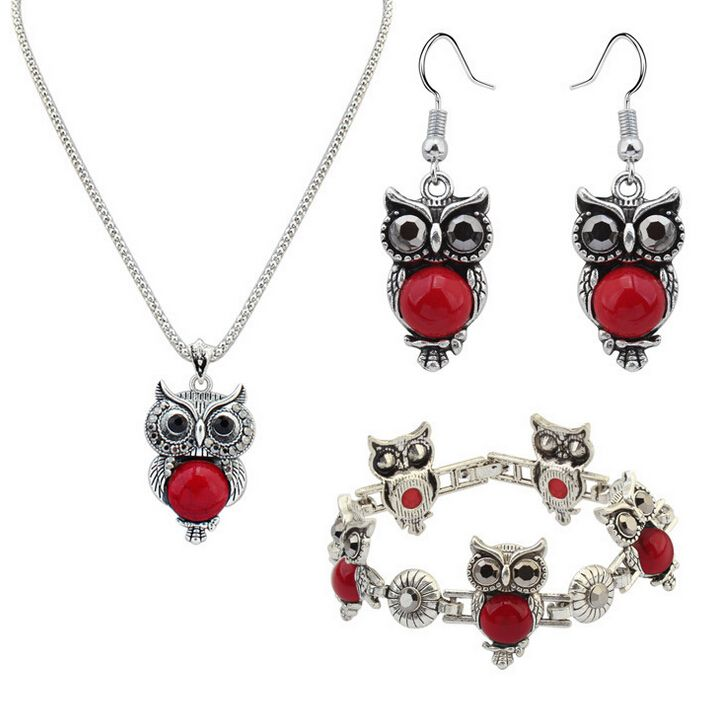 Find More Jewelry Sets Information about Zenper New jewelry Fashion Owl jewelry sets Retro fashion imitation turquoise jewelry parure bijoux femme Christmas Gift L57,High Quality jewelry ceramic,China jewelry gift boxes with cotton Suppliers, Cheap jewelry clasp from Yiwu zenper accessories crafts co.,ltd  on Aliexpress.com