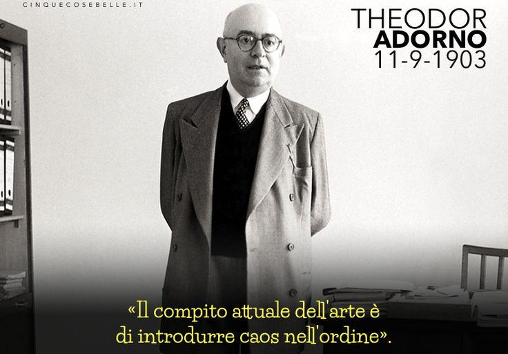 113 anni dalla nascita di Theodor Adorno