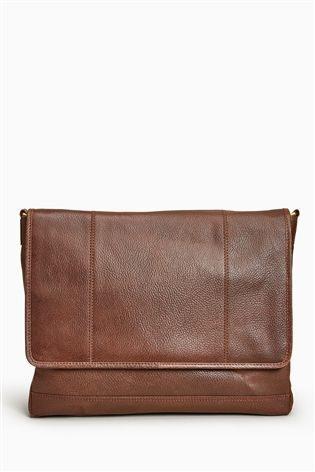 2649e7f328 Dark Brown Signature Leather Panelled Messenger