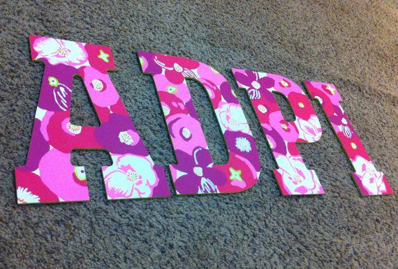 Adpi Wooden Letters Lilly Print Alpha Delta Pi Wooden Letters
