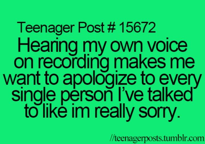Yeah sorry to everyone I've talked to over the past 12 years of my life ....