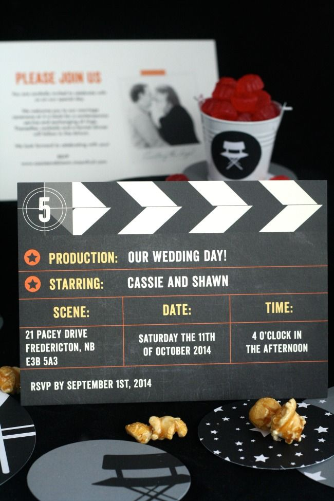 Movie-Themed Wedding Invites @Megan Ward Nelson