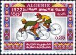 Timbre sur les Jeux olympiques de 1972, Algérie #vélo