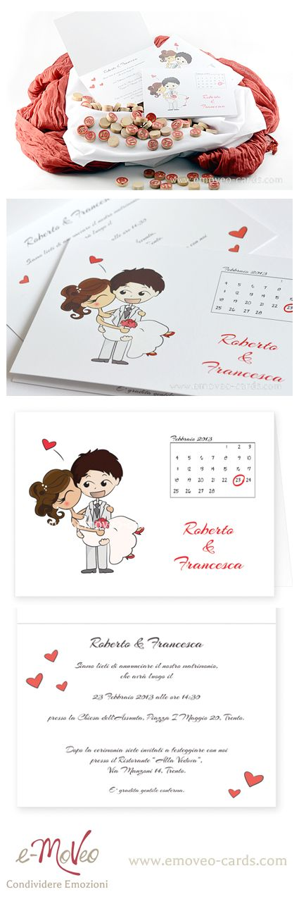 Comic-style wedding invitation! Personalize it with your own avatars! by e-MoVeo Cards Invito matrimonio Hochzeitseinladung Comic-Stil www.emoveo-cards.com