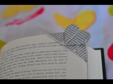 How to make an origami corner heart bookmark   Make It @ Your Library