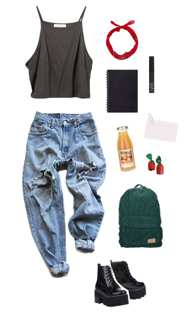 Cate's daily wear by dieliner on Polyvore featuring polyvore, Levi's, Jeffrey Campbell, NARS Cosmetics, fashion, style and clothing