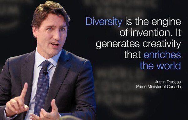justin trudeau on diversity