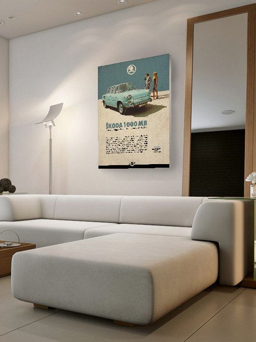 classic car on poster digital print Central by ClassicDriver