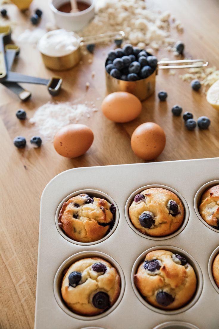Guilt Free Blueberry Lemon Blender Muffins // A great blender recipe in collaboration with @KitchenAidUSA //www.eatsleepwear.com // food // recipes // breakfast // on-the-go snack // #ad #recipe #eatsleepwear #ForTheMaking #theblendedlife