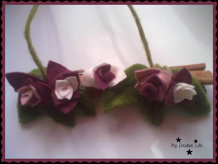 Rametto con fiori in panno :D