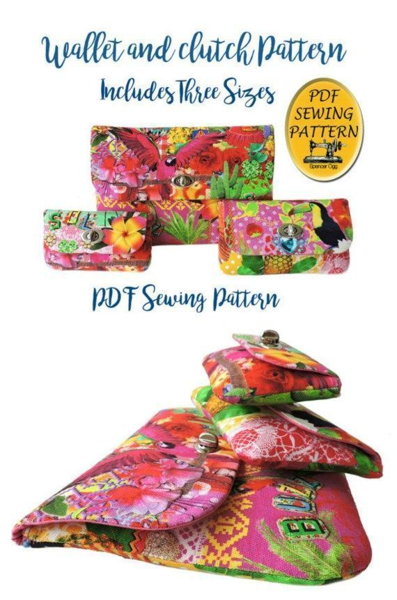 Here's a fabulous PDF Sewing pattern for a twist lock wallet that comes in 3 siz… – Handbags Wholesale