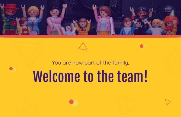 Welcome To The Team Card Template Welcome To The Team Card Template Welcome Card