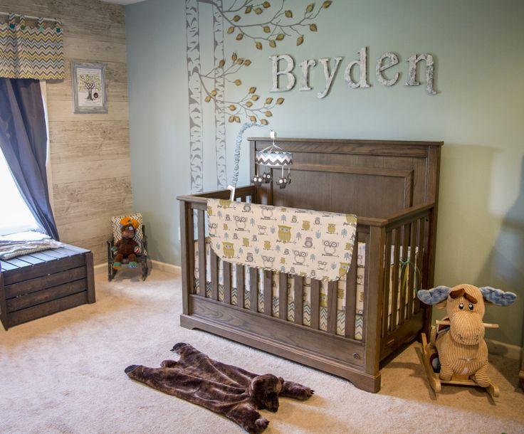 moose bears and owls oh my woodland baby nurserybear - Baby Room Ideas For A Boy