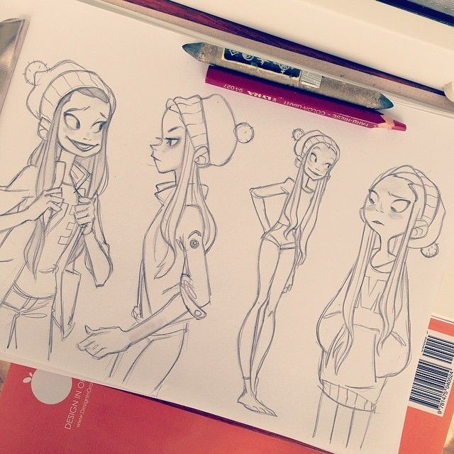 Шапка ❤️ #sketching #girls #shapkathebest