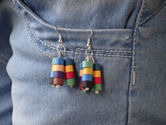 Simple and beautiful ear rings made from #quilling strips