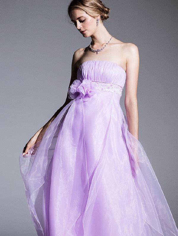 脚長効果抜群のパープルのカラードレス♪花嫁衣装の参考一覧まとめ♡