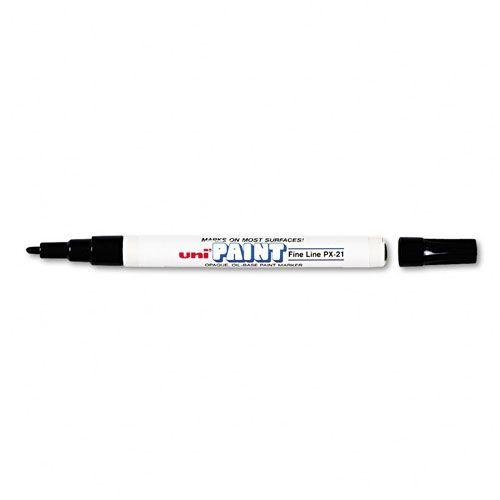 Uni Paint Marker, Cam-Porselen Kalemi, 0.8-1.2mm, (Siyah)