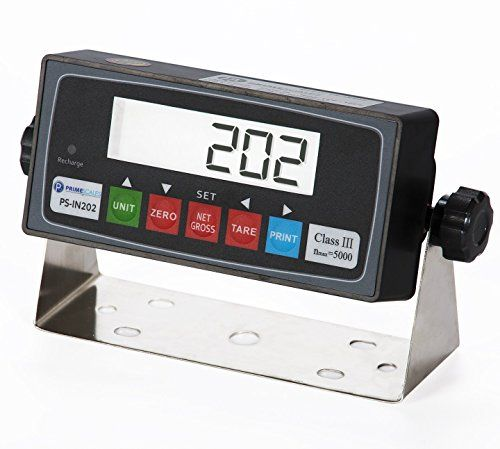 DigiWeigh 5000Lb/1Lb Floor Scale (DWP-5500R)  Digiweigh DWP-5500R is a high quality, professional floor / pallet scale that is ideal for industrial or shipping use. Its capacity is up to 5000 Lbs, and it is accurate to within one pound of the actual weight. Four high quality alloy load cells ensure that the unit is completely accurate within its full load range. Large deck measures 4 x 4 – ideal for standard pallets. Easy to read indicator with large LED display – equipped with a rec..
