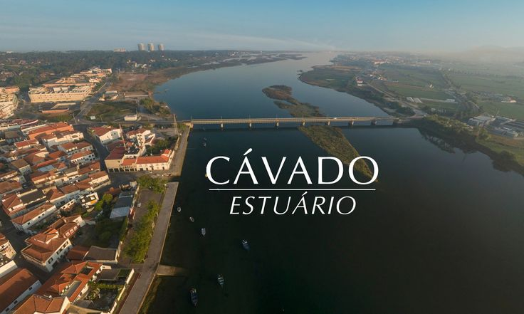 Estuário do Rio Cávado Vistas aéreas 4k