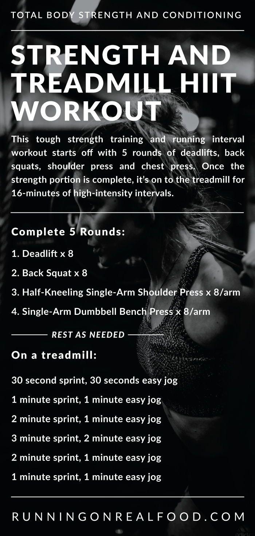 Kraft und Laufband HIIT Workout