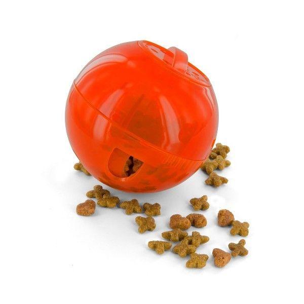 PetSafe SlimCat Treat/Food Dispensing Toy Ball Feeder (Orange)