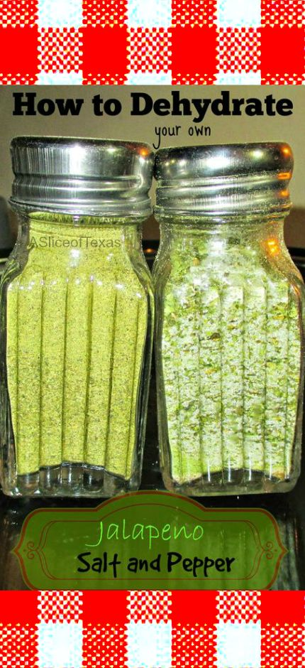 Dehydrated Jalapeno Salt and Pepper is the easiest to make. Family favorite!