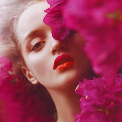 ♥ Kornelia Strzelecka: Pink Flower, Fashion, Inspiration, Makeup, Colors, Red Lips, Flower Power, Beautiful Shoots, Redlips