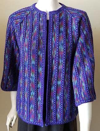 Free Knitting Pattern - Women's Jackets & Outerwear: Striped Kimono Jacket