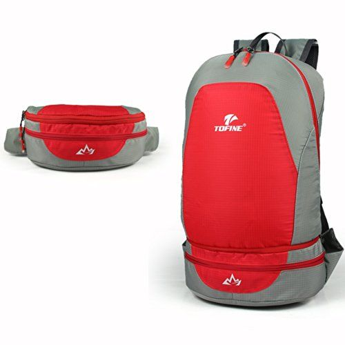 Leaper Outdoor Ultra-light and Water-repellent Folding 25L Transform Two-way Waist Pack Backpack / Travel Daypack Designed for Camping Hiking Trekking Mountain Climbing (red) Leaper http://www.amazon.com/dp/B00KSZC0QY/ref=cm_sw_r_pi_dp_r9iEvb0Z8DDWK