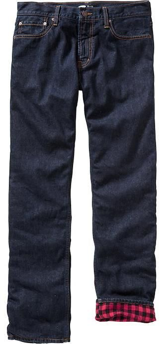 $17, Navy Jeans: Old Navy Flannel Lined Jeans. Sold by Old Navy. Click for more info: https://lookastic.com/men/shop_items/137613/redirect