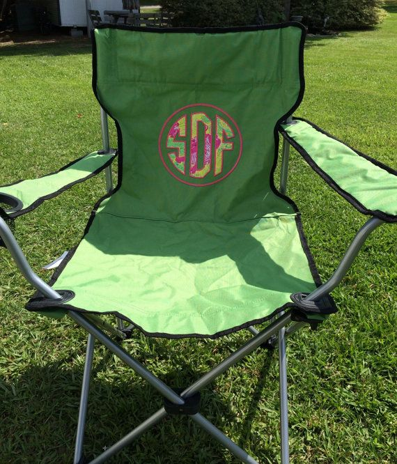 25  best ideas about monogrammed tailgate chairs on pinterest