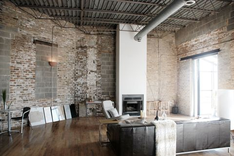 cool new york loft style not our apartment though our new york apartment pinterest new. Black Bedroom Furniture Sets. Home Design Ideas