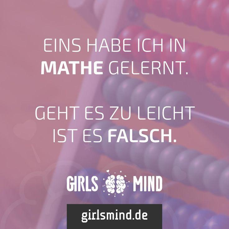 Alle Mathe-Loser mal aufzeigen! Mehr Sprüche auf: www.girlsmind.de #mathe…