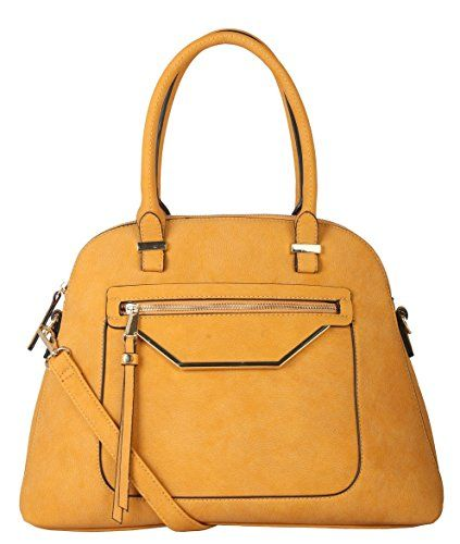 Rimen & Co. Shell Shape Tote Accented with Front Zippered...