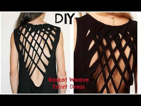 DIY: Turn a tshirt into this Basket Weave Shirt dress | Trash To Couture | Bloglovin'