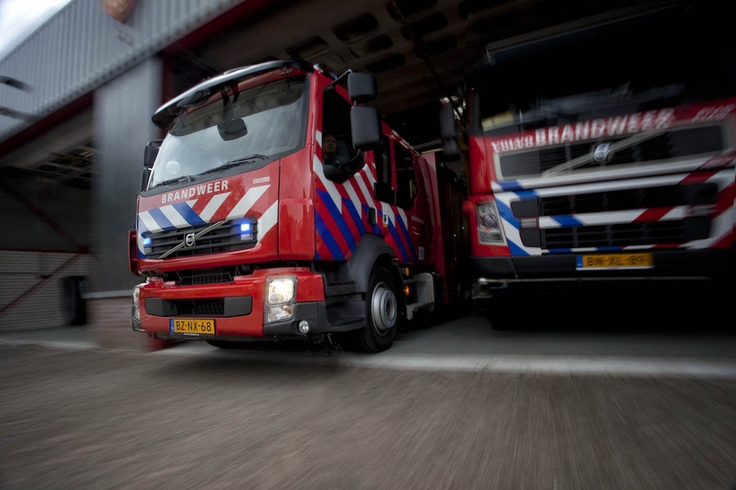 """500px / Photo """"Volvo fire engine leaving for a call"""" by Arjan Bruinstroop"""