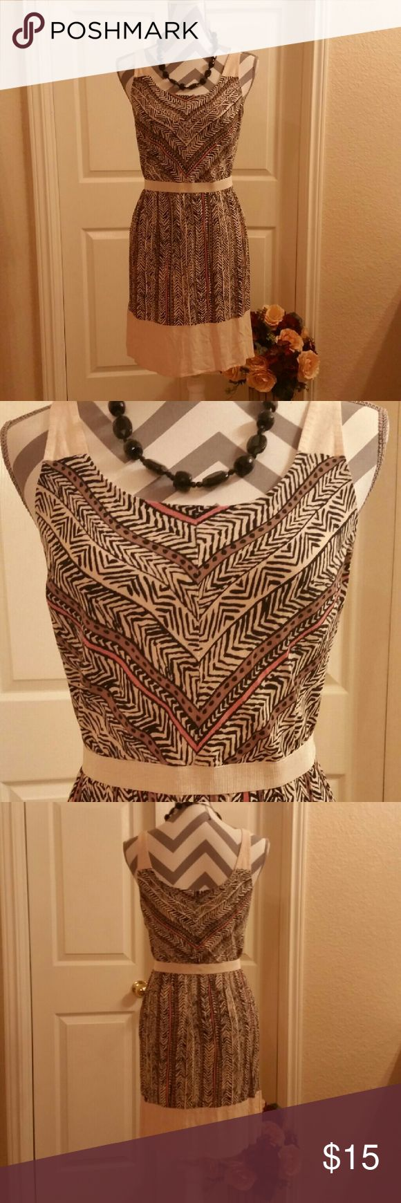 Loft Aztec pattern dress. Beautiful sleeveless loft dress. Perfect for the day at the office.nigth out or wedding guest. Very versatile piece. LOFT Dresses Mini