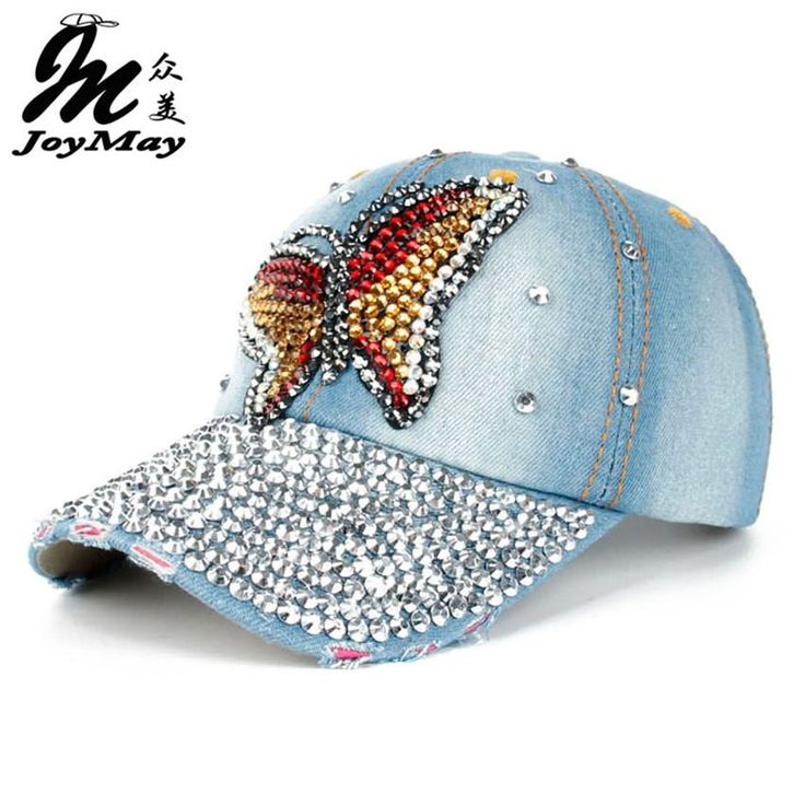 Free shipping Fashion Cotton Jean Caps Women Rhinestone baseball cap Lady JEAN summer hat jean snapback caps denim caps HK002  #cute #beauty #instastyle #fashion #iwant #instalike #streetstyle #beautiful #swag #glam