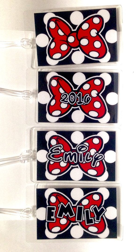 DISNEY Luggage Tags  Personalized MINNIE MOUSE  by Howddode