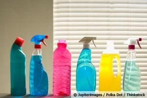 Some 'Green' cleaners are actually toxic. Make your own with white vinegar, baking soda, hydrogen peroxide, lemon, natural essential oils...