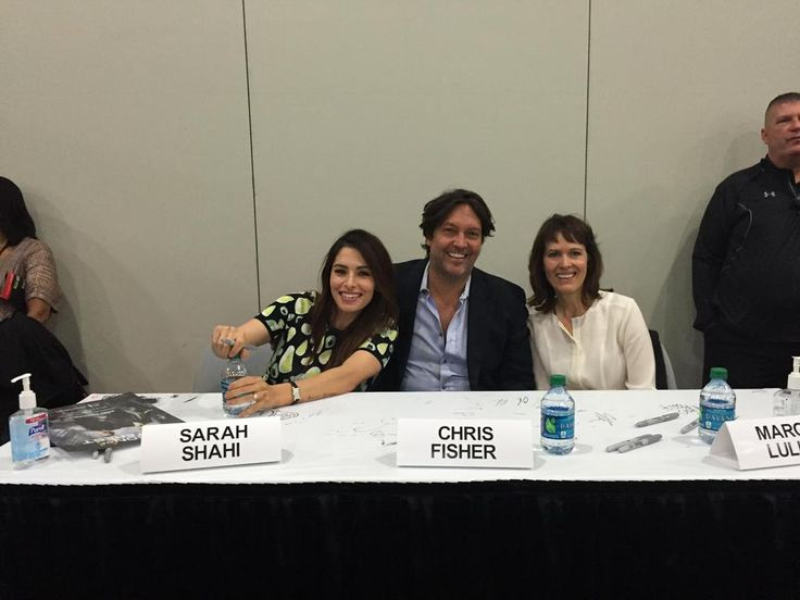 Sarah Shahi, Chris Fisher and Margot Lulick - NYCC - Person Of Interest