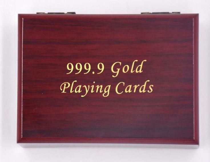 24K Gold Foil Playing Cards With Certificate & Optional Wooden Gift Box - Big Star Trading Store