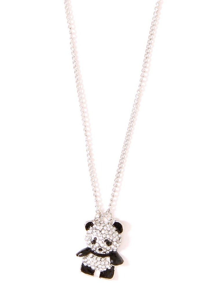 Rhinestone Panda Necklace - Jewelry - Accessories #STYLESFORLESS
